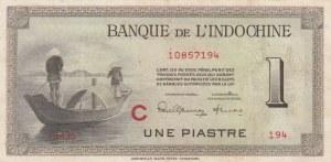 French Indo-China, 1 Piastre, 1951, XF, p76b