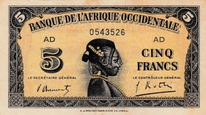 French West Africa, 5 Francs, 1942, VF, p28b