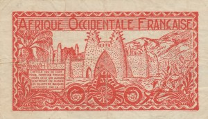 French West Africa, 0.50 Franc, 1944, FINE, p33a
