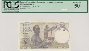 French West Africa, 10 Francs, 1954, UNC, p37