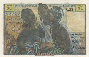 French West Africa, 50 Francs , 1956, UNC, p45