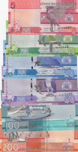 Gambia, 5, 10, 20, 50, 100, 200 Dalasis, 2019, UNC, p37, p38, p39, p40, p41, p42, Total 6 banknotes
