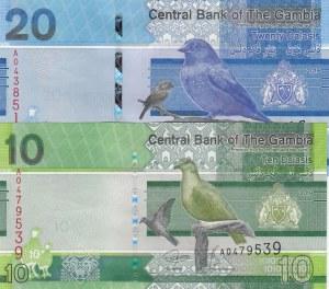Gambia, 10 Dalasis and 20 Dalasis, 2019, UNC, p38, p39, (Total 2 banknotes)