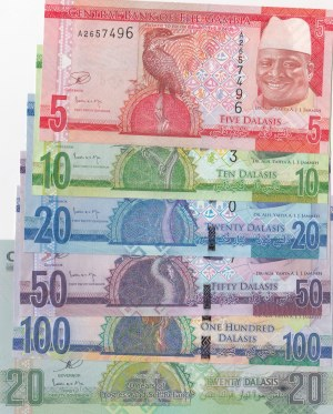 Gambia,  Total 6 banknotes
