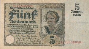 Germany, 5 Rentenmark, 1926, VF, p169