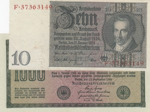 Germany,  total 2 banknotes