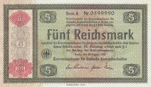 Germany, 5 Reichsmark, 1934, UNC (-), p207, CANCELLED