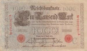 Germany, 1000 Mark, 1910, XF, p44b