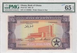 Ghana, 5 Pounds, 1962, UNC, p3d