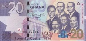 Ghana, 20 Cedis, 2014, UNC, p40e