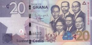Ghana, 20 Cedis, 2015, UNC, p40f