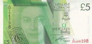 Gibraltar, 5 Pounds, 2011, UNC, p35