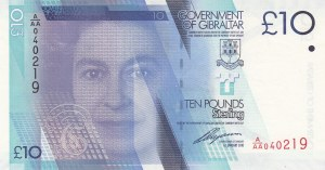 Gibraltar, 10 Pounds, 2010, UNC, p36