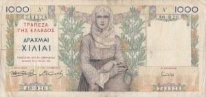 Greece, 1000 Drachmai, 1935, VF, p106