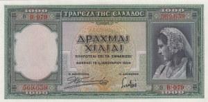 Greece, 1.000 Drachmai, 1939, UNC, p110