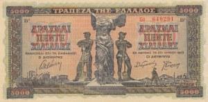 Greece, 5.000 Drachmai, 1942, XF, p119b