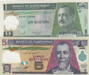 Guatemala,  Total 2 polymer plastic banknotes