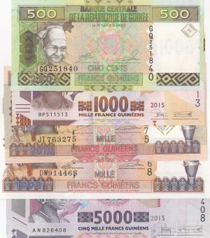 Guinea,  Total 5 banknotes