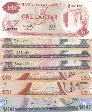 Guyana,  Total 7 banknotes