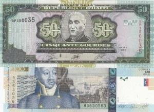 Haiti,  Different 2 banknotes