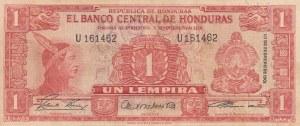 Honduras, 1 Lempira, 1961, VF, p54Aa
