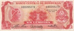 Honduras, 1 Lempira, 1968, VF, p55a