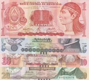 Honduras,  UNC,  total 4 banknotes