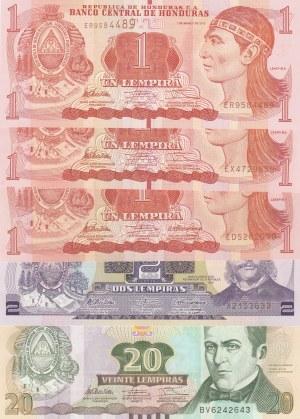 Honduras,  Total 5 banknotes