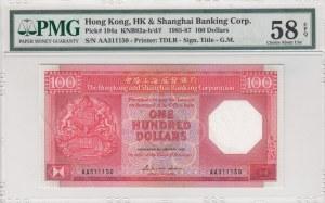 Hong Kong, 100 Dollars, 1985/1987, AUNC, p194a