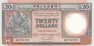 Hong Kong, 20 Dollars, 1990, UNC, p197a
