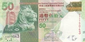 Hong Kong, 50 Dollars, 2010, UNC, p213a