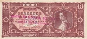 Hungary, 100.000 Milpengö, 1946, AUNC, p127