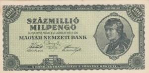 Hungary, 100.000.000 Milpengo, 1946, UNC, p130