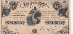 Macaristan, 5 Forint, 1852, UNC,