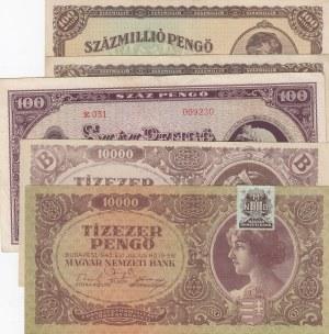 Hungary,  XF,  total 5 baknotes