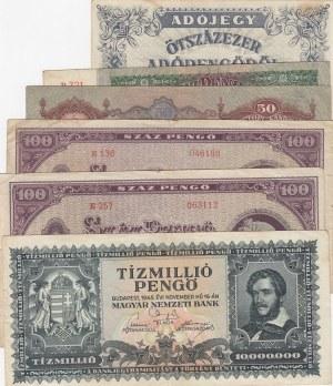 Hungary,  Total 6 banknotes