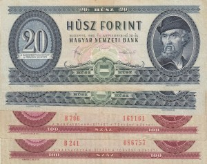 Hungary,  Total 4 banknotes