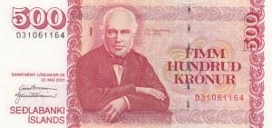Iceland, 500 Kronur, 2001, UNC, p58b