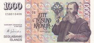 Iceland, 1000 Kronurs, 1986-2005, UNC, p59
