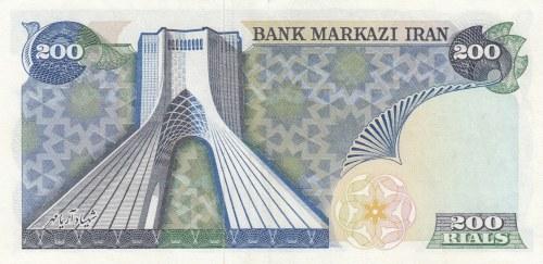 Iran, 200 Rials , 1974/1979, UNC (-), p103b
