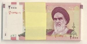 Iran, 2.000 Rials, 2005, UNC, p144d, Stack of money