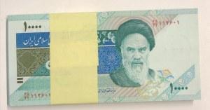 Iran, 10.000 Rials, 1992, UNC, p146i, Stack of money