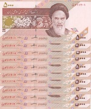 Iran, 5000 Rials, 2013, UNC, p152, total 10 banknotes