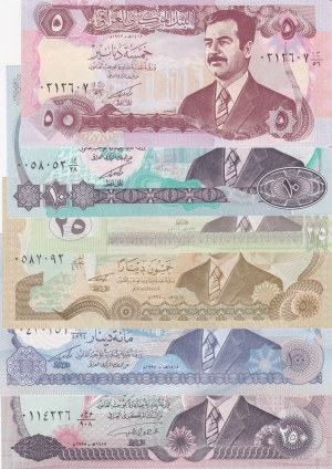Iraq,  Total 6 banknotes