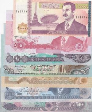 Iraq,  UNC,  Total 7 banknotes