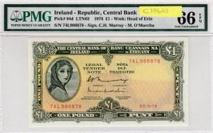 Ireland, 1 Pound, 1976, UNC, p64d