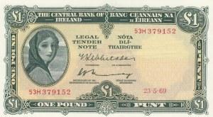 Ireland, 1 Pound, 1969, XF, p64b