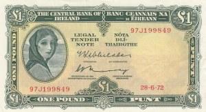 Ireland, 1 Pound, 1972, XF, p64c