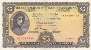 Ireland, 5 Pounds, 1975, XF, p65c