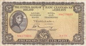 Ireland, 5 Pounds, 1973, VF, p65c